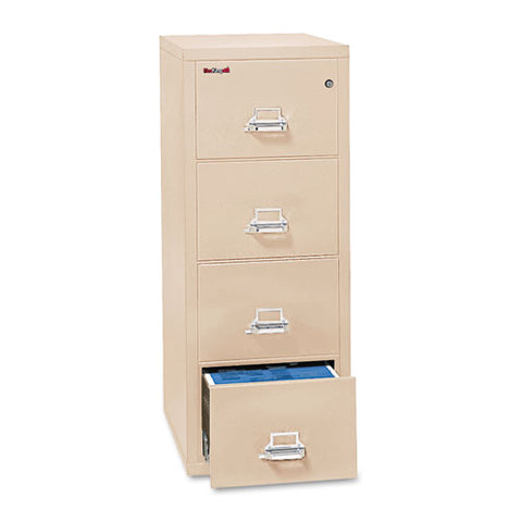 Four-drawer Vertical File, 17.75w X 25d X 52.75h, Ul Listed 350 Degree, Letter, Parchment