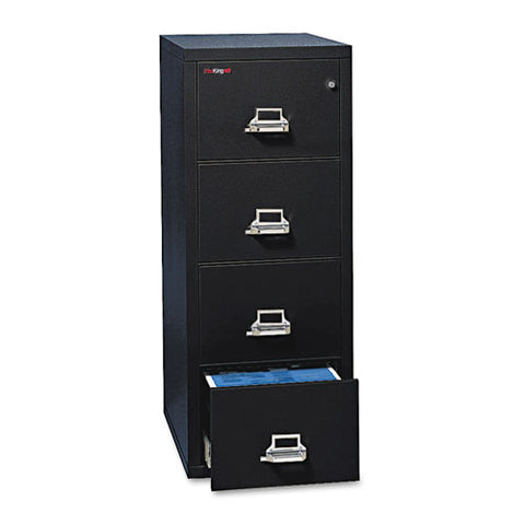Four-drawer Vertical File, 17.75w X 31.56d X 52.75h, Ul 350 Degree For Fire, Letter, Black