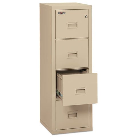 Turtle Four-drawer File, 17.75w X 22.13d X 52.75h, Ul Listed 350 Degree For Fire, Parchment