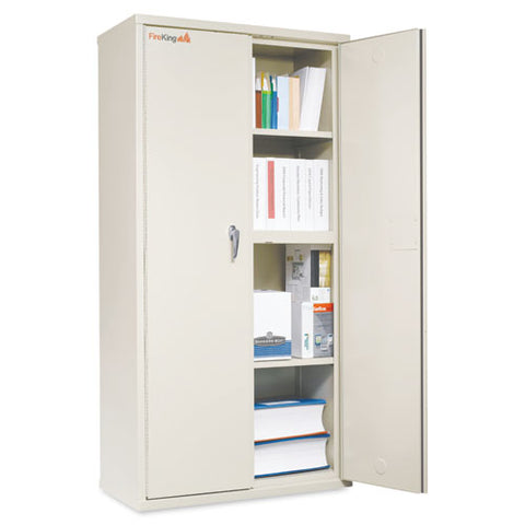 Storage Cabinet, 36w X 19 1-4d X 72h, Ul Listed 350 Degree, Parchment