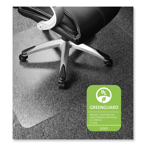 Cleartex Ultimat Polycarbonate Chair Mat For Low-medium Pile Carpet, 35 X 47, Clear