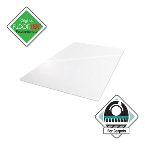 Cleartex Ultimat Chair Mat For High Pile Carpets, 35 X 47, Clear