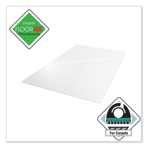 Cleartex Ultimat Polycarbonate Chair Mat For Low-medium Pile Carpet, 48 X 53, Clear