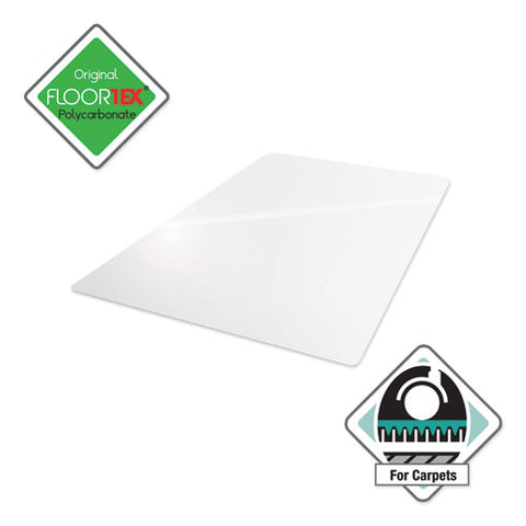 Cleartex Ultimat Polycarbonate Chair Mat For High Pile Carpets, 60 X 48, Clear