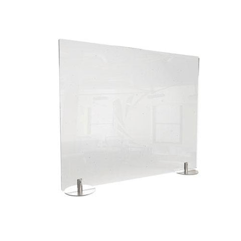 Desktop Free Standing Acrylic Protection Screen, 29 X 5 X 24, Clear