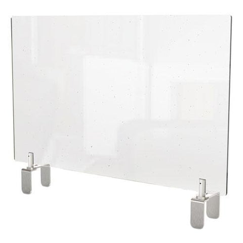 Clear Partition Extender With Attached Clamp, 42 X 3.88 X 18, Thermoplastic Sheeting