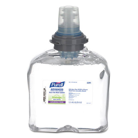 Green Certified Tfx Refill Advanced Foam Hand Sanitizer, 1200 Ml, Clear, 2-carton