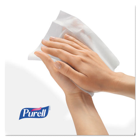 Hand Sanitizer Wipes Wall Mount Dispenser, 1,200-1,500 Wipe Capacity, 13.3 X 11 X 10.88, White