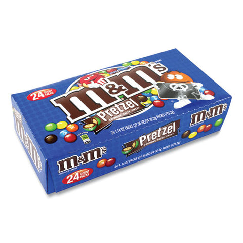 Pretzel M And M's, 1.14 Oz Pack, 24 Packs-box, Free Delivery In 1-4 Business Days