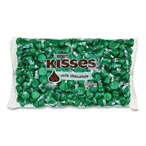 Kisses, Milk Chocolate, Green Wrappers, 66.7 Oz Bag, Free Delivery In 1-4 Business Days