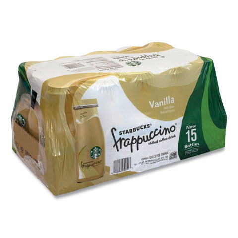 Frappuccino Coffee, 9.5 Oz Bottle, Vanilla, 15-pack, Free Delivery In 1-4 Business Days
