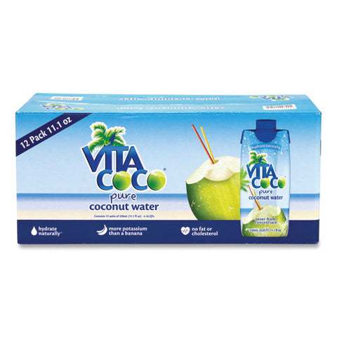 Pure Coconut Water, 11.1 Oz Box, 12-box, Free Delivery In 1-4 Business Days