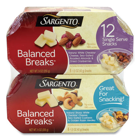 Balanced Breaks, Two Assorted Flavor Packs, 1.5 Oz Pack, 12 Packs-box, Free Delivery In 1-4 Business Days