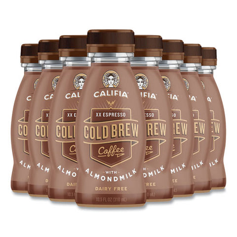 Cold Brew Coffee With Almond Milk, 10.5 Oz Bottle, Xx Expresso, 8-pack, Free Delivery In 1-4 Business Days