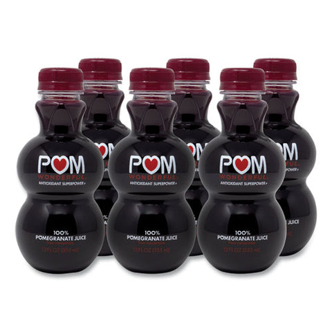 100% Pomegranate Juice, 12 Oz Bottle, 6-pack, Free Delivery In 1-4 Business Days