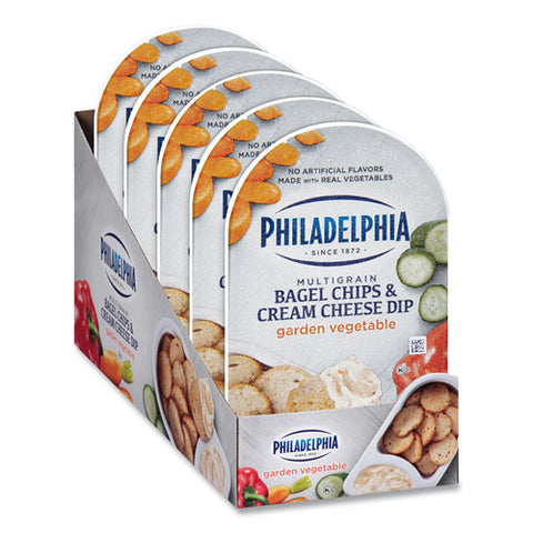 Multigrain Bagel Chips And Garden Vegetable Cream Cheese Dip, 2.5 Oz, 5-box, Free Delivery In 1-4 Business Days