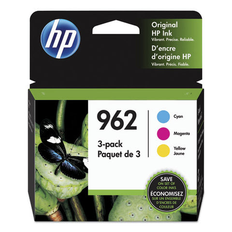 Hp 962, (3yp00an) 3-pack Cyan-magenta-yellow Original Ink Cartridges
