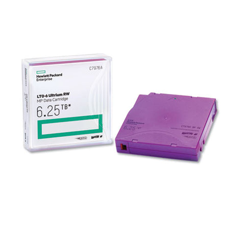 "1-2"" Ultrium Lto-6 Cartridge, Mp, 2775ft, 2.5tb Native-6.25 Compressed"