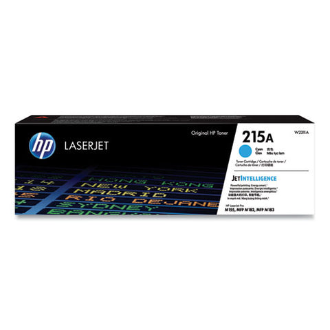Hp 215a, (w2311a) Cyan Original Laserjet Toner Cartridge