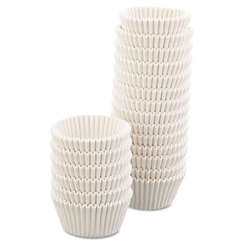 "Fluted Bake Cups, 4.5"" Diameter X 1.25""h, White, 500-pack, 20 Pack-carton"