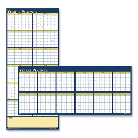 Recycled Reversible Yearly Wall Planner, 60 X 26, 2021