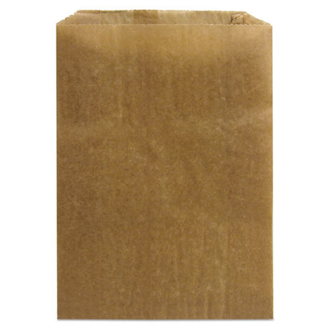 "Napkin Receptacle Liners, 7.5"" X 3"" X 10.5"", Brown, 500-carton"
