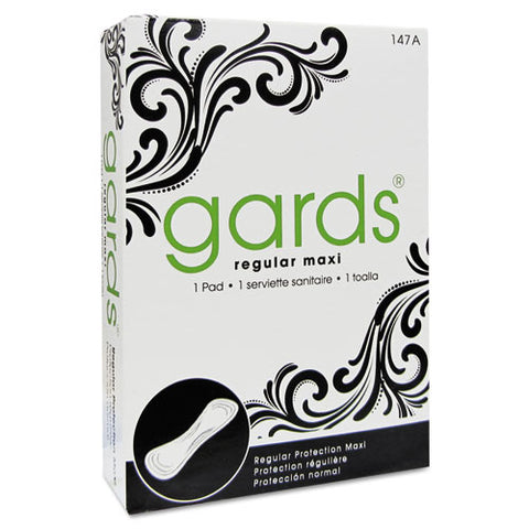 Gards Vended Sanitary Napkins #4, 250 Individually Boxed Napkins-carton