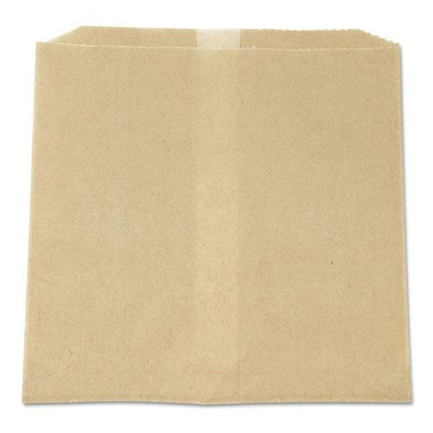 "Waxed Napkin Receptacle Liners, 8.5"" X 8"", Brown, 500-carton"