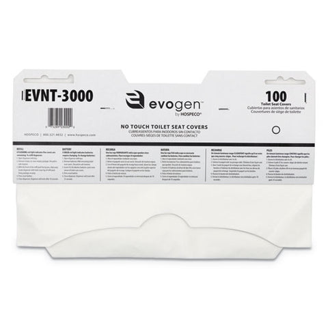 Evogen No Touch Toilet Seat Covers, 15.5 X 9.25, White, 3,000-carton