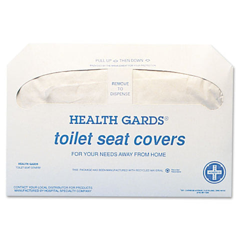 Health Gards Toilet Seat Covers, 14.25 X 16.5, White, 250 Covers-pack, 20 Packs-carton