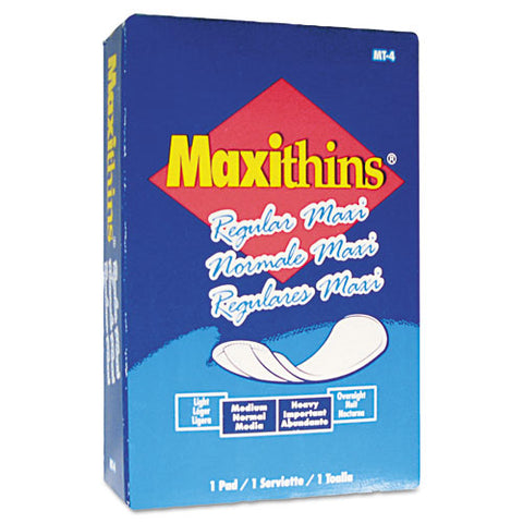 Maxithins Vended Sanitary Napkins, 100-carton