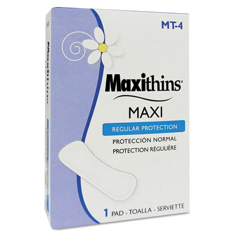 Maxithins Vended Sanitary Napkins #4, 250 Individually Boxed Napkins-carton