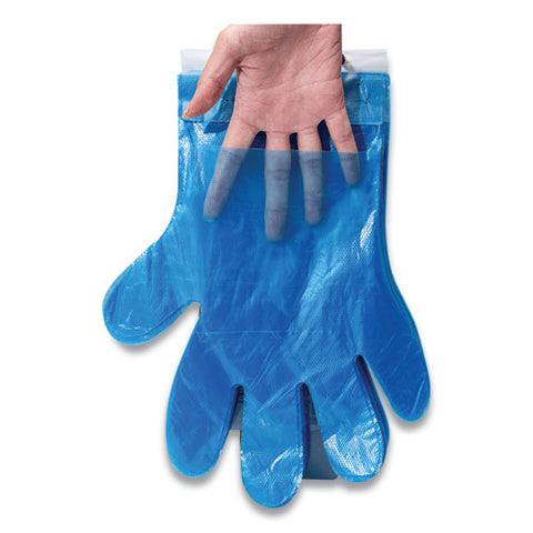 Reddi-to-go Poly Gloves On Wicket, One Size, Clear, 8,000-carton