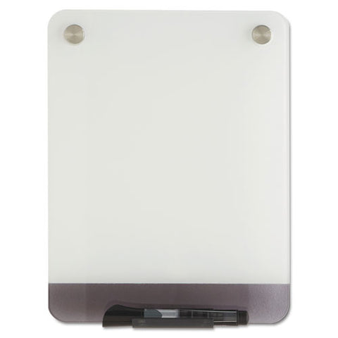 Clarity Glass Personal Dry Erase Boards, Ultra-white Backing, 9 X 12