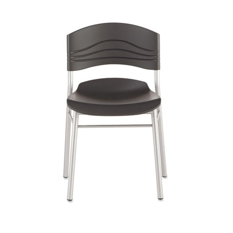 Caféworks Cafe Chair, Graphite Seat-graphite Back, Silver Base, 2-carton