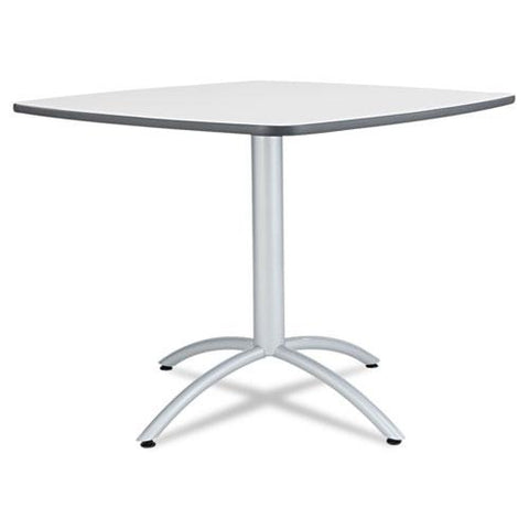 Caféworks Table, 36w X 36d X 30h, Gray-silver