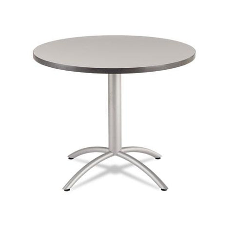 Caféworks Table, 36 Dia X 30h, Gray-silver