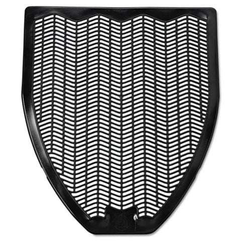 Disposable Urinal Floor Mat, Nonslip, Fresh Blast Scent, 17 1-2 X 20 3-8, Black, 6-carton