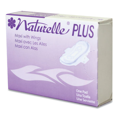Naturelle Maxi Pads Plus, #4 With Wings, 250 Individually Wrapped-carton