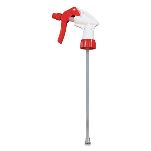 "General Purpose Trigger Sprayer, 8.13"" Tube, Fits 24 Oz Bottles, Red-white, 24-carton"