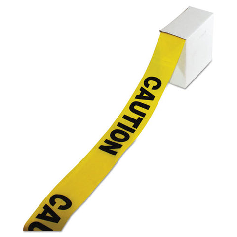 "Site Safety Barrier Tape, ""caution"" Text, 3"" X 1000ft, Yellow-black"