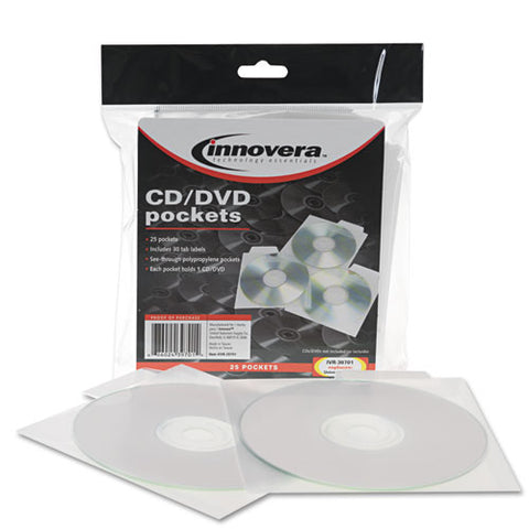 Cd-dvd Pockets, 25-pack