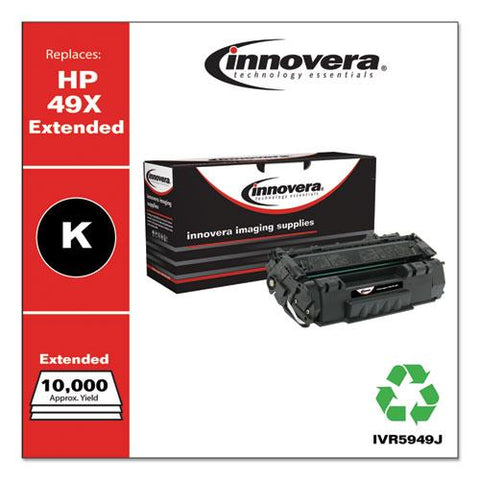 Remanufactured Black Extended-yield Toner, Replacement For Hp 49x (q5949xj), 10,000 Page-yield