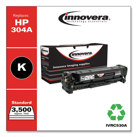 Remanufactured Black Toner, Replacement For Hp 304a (cc530a), 3,500 Page-yield