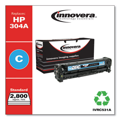 Remanufactured Cyan Toner, Replacement For Hp 304a (cc531a), 2,800 Page-yield