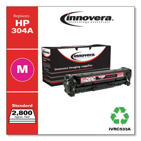 Remanufactured Magenta Toner, Replacement For Hp 304a (cc533a), 2,800 Page-yield