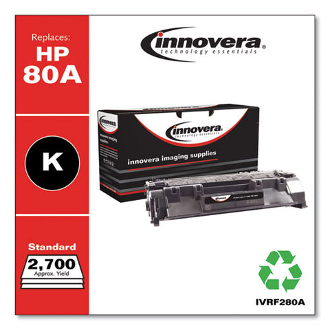 Remanufactured Black Toner, Replacement For Hp 80a (cf280a), 2,700 Page-yield
