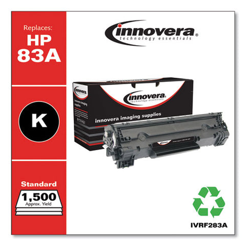 Remanufactured Black Toner, Replacement For Hp 83a (cf283a), 1,500 Page-yield