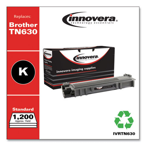 Remanufactured Black Toner, Replacement For Brother Tn630, 1,200 Page-yield