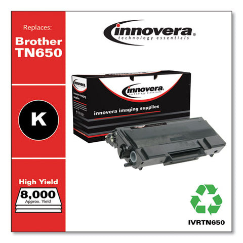 Remanufactured Black High-yield Toner, Replacement For Brother Tn650, 8,000 Page-yield